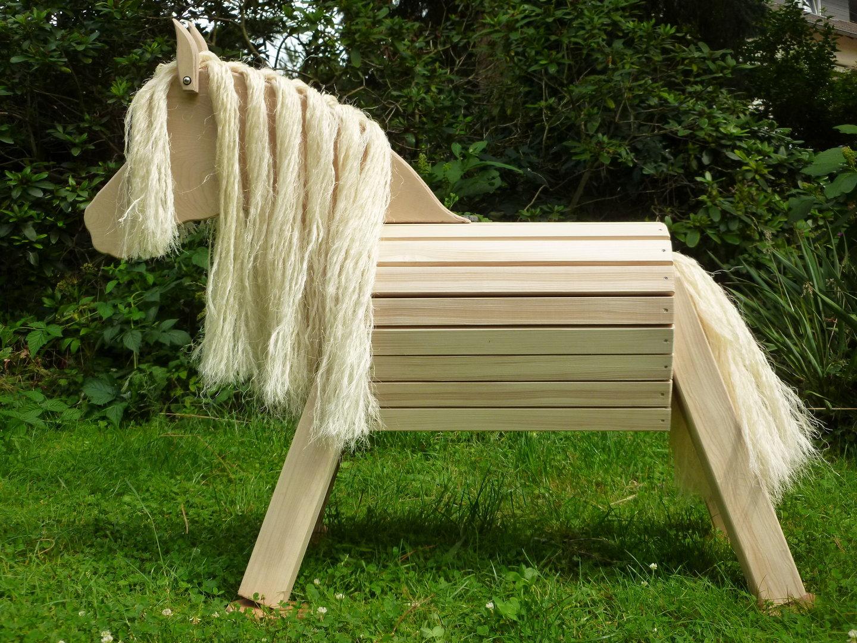 75 cm holzpferd pony unlasiert mit sisal m hne und schweif zauberhafte holzpferde. Black Bedroom Furniture Sets. Home Design Ideas